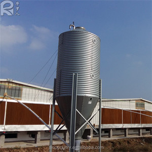 corrugated stainless steel poultry silo for chicken farm storage silo