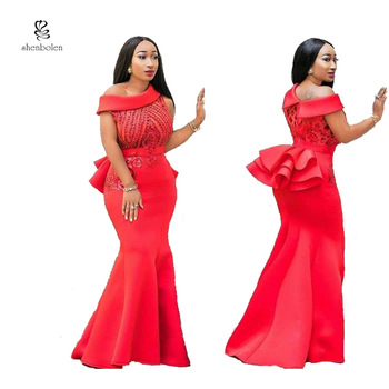 2019 100 Cotton African Kitenge Designs Long Wedding Dress Bridal Gown Shoulder Off Ruffle Red Women Dress Evening Dresses View New Long Party Evening Dresses Shenbolen Product Details From Dongguan City Hongyu