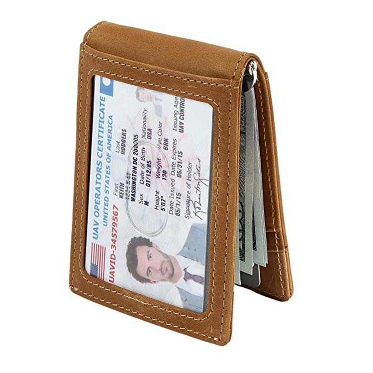 Leather RFID Front Pocket Wallet