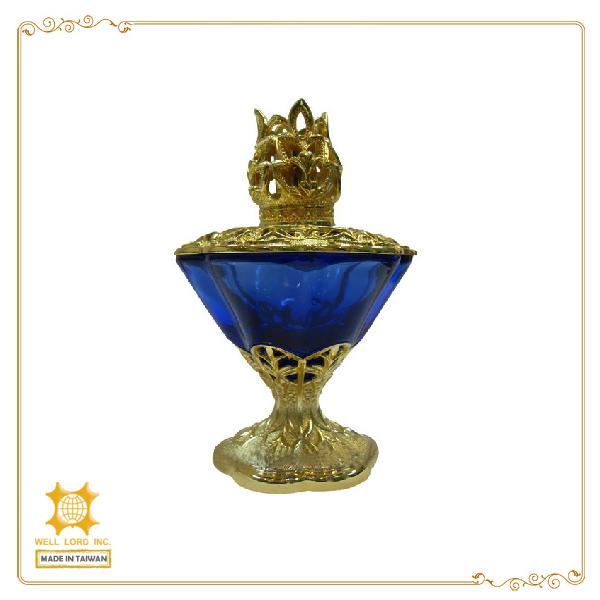 Luxury Glass Bottle Metal Cap Perfume Oil Fragrance Lamp