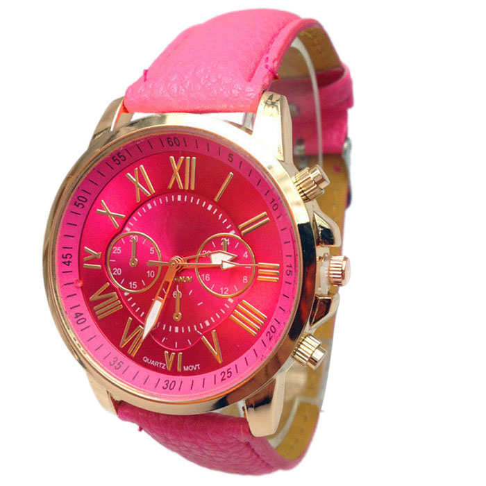 5189b1284494 Relogio Feminino 2017 Women 9 Colors Stylish Numerals Faux ...