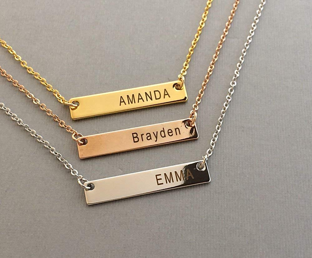 330852b63a17f Buy Personalized Necklace Name Plate Bar Gold Necklace Custom ...