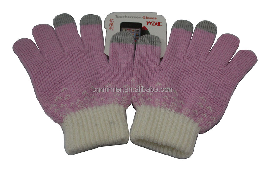 Yiboli Wholesale Cheap 3 Fingers Touch Screen Gloves For Women And Men