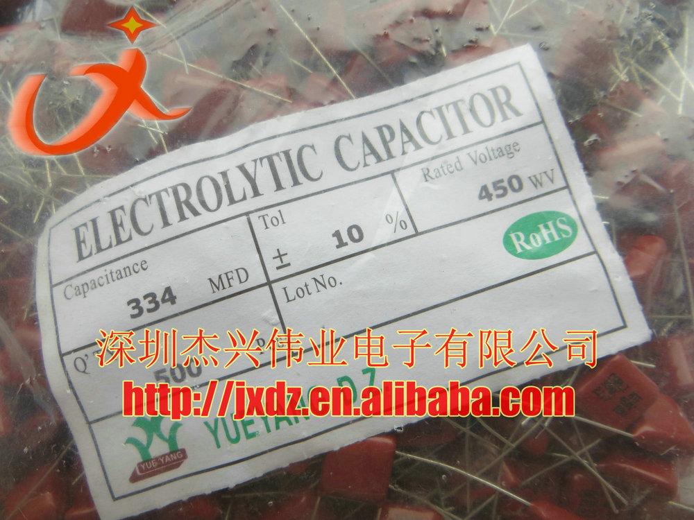 334 450v 334k Metal Polyester Film Capacitor 0.33uf 450v Cbb ...