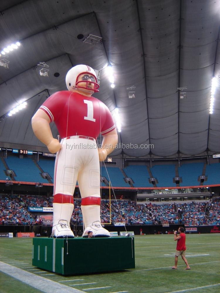 2015 nfl inflatable player lawn figure, soccer player figures
