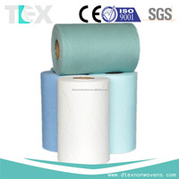 Non Woven Fabric Spunlace 55%Wood Pulp 45%Pet Polyester Rolls