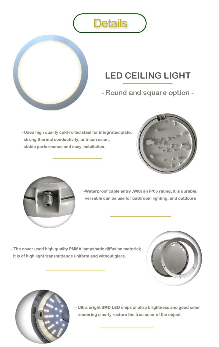 Corridor Light Wiring Diagram Explained Integrated Led Ip65 Waterproof 15w 20w 30w Lighting With One Switch Power Through
