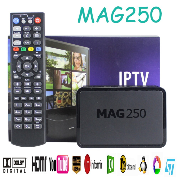 Cheapest price from Direct supplier IPTV stb Linux2.6.23 OS can with USB wifi MAG 250 is same as MAG 254