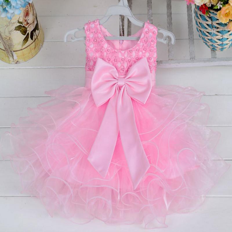 Barato vestido de partido del bebé niños frocks diseños 3 años Niña ...