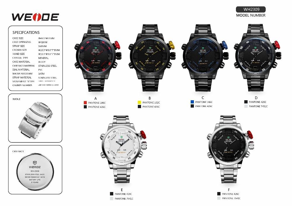 Weide Dual Analog Digital Watch Watch Battery Sr626sw Illuminated ...