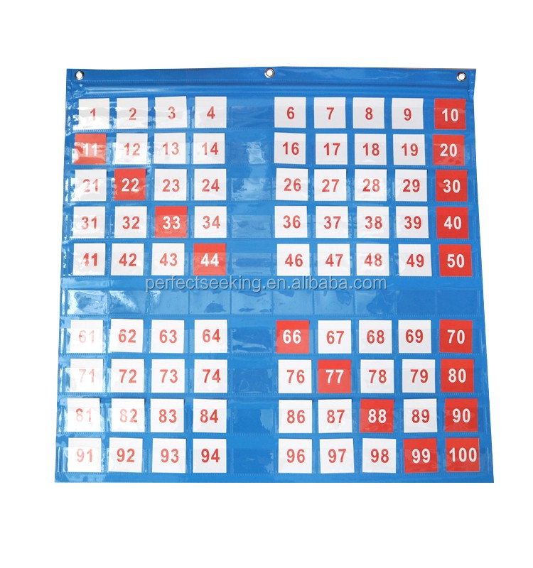 teaching aids hanging chart educational kids pocket chart with