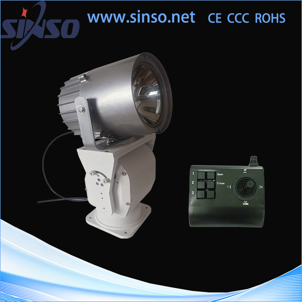 china vibration resistant 100W remote control marine HID searchlight