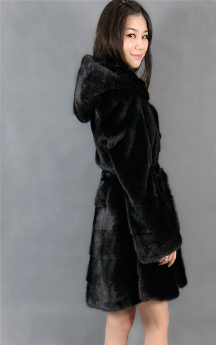 2016 new fur coats mink coat genuine fur coat with a hood mink fur coats natural