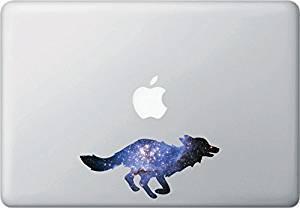 "Cosmic Fox - Contour Cut and Printed Laptop / Macbook Vinyl Decal © YYDC (6""w x 2.75""h)"
