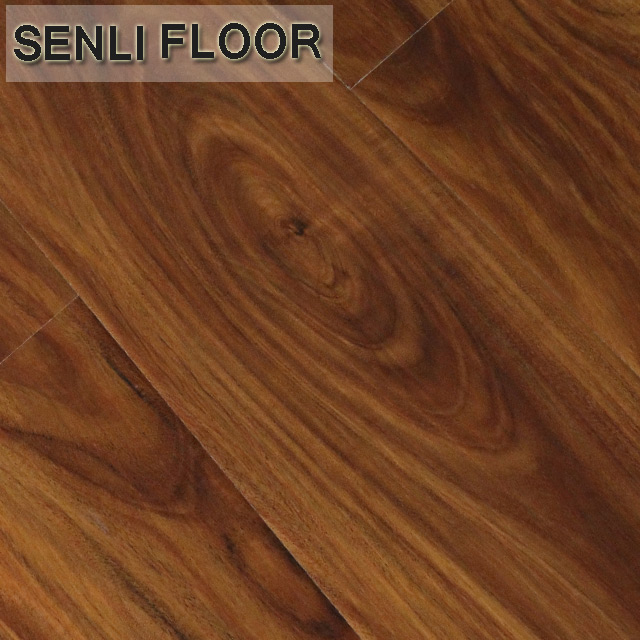12mm HDF Senli Wood factory laminate flooring bamboo surface
