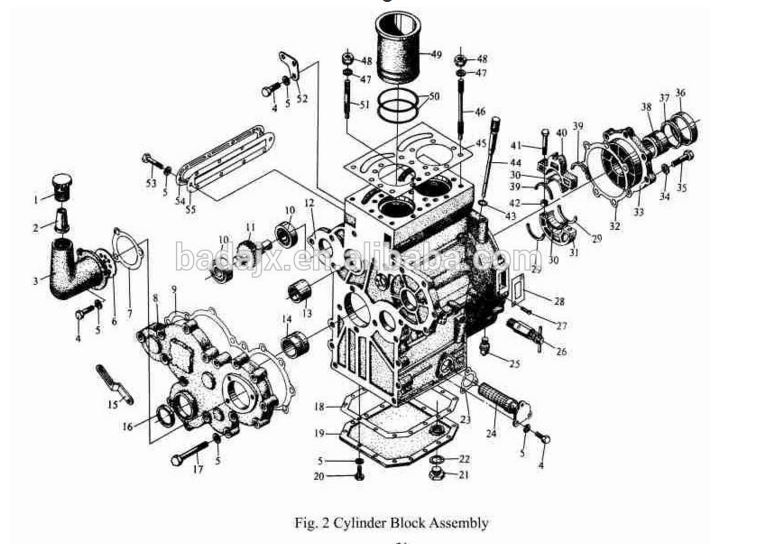 Jinma Tractor Ty290 Diesel Engine Parts