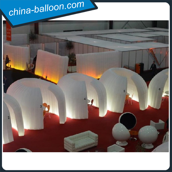 5m round shape inflatable exhibition booth stand / inflatable led fence