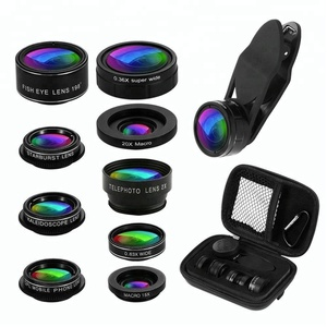 Wholesale amazon product cell phone accessories 9 in 1 phone lens kit for mobile phone camera lens