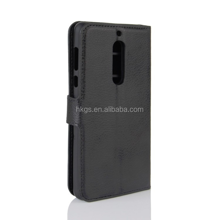high quality custom pu flip leather cover case for nokia 5 ta-1053