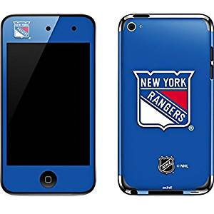 NHL New York Rangers iPod Touch (4th Gen) Skin - New York Rangers Solid Background Vinyl Decal Skin For Your iPod Touch (4th Gen)