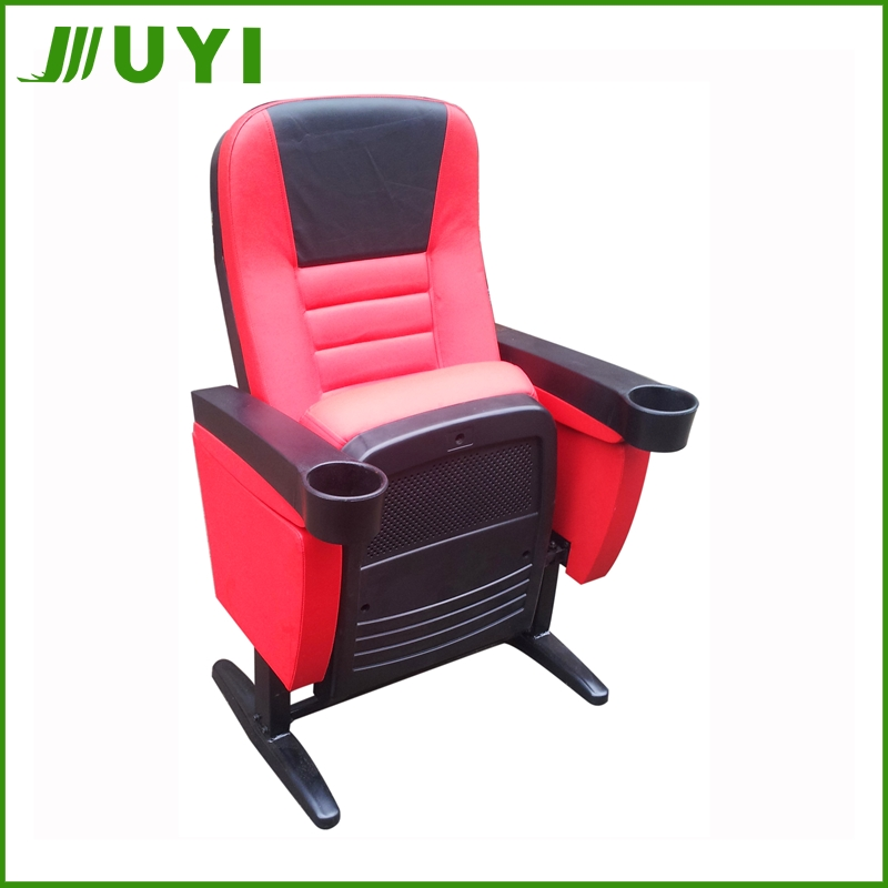 Cinema seats lecture hall chair with PU leather and soft sponge for auditorium JY-617