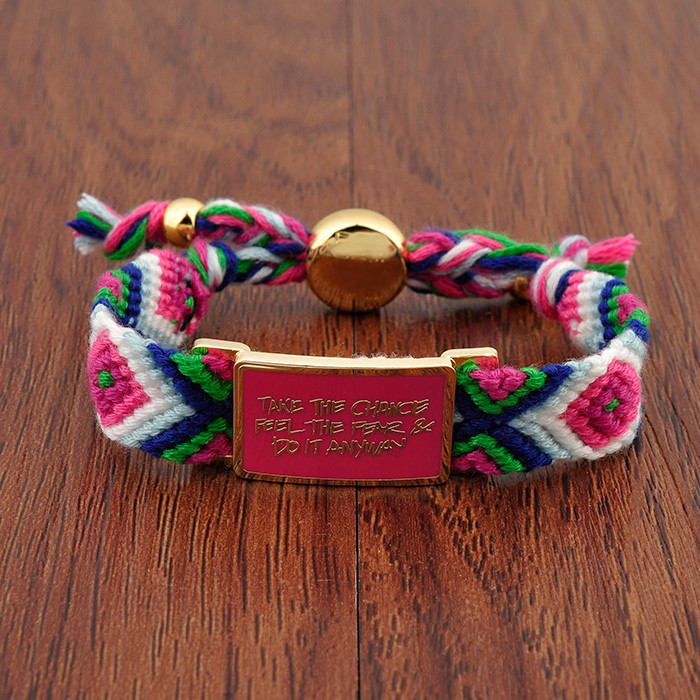 Custom Mexican Embroidery Cotton Friendship Bracelet Woven Max Rope Boho Hippie Cloth Bracelet