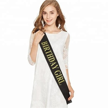 Custom Logo design beauty Smooth pageant satin ribbon sash