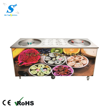Whole pan is cold frying ice cream maker rolled ice cream machine