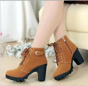 he30553a New model autumn winter woman boots short ankle Martin boots female shoes