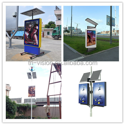 CE whosales outdoor advertising scrolling lightbox made in China