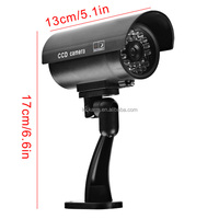 CCTV Outdoor CCD Red LED Light Bullet proof Fake Dummy Security Camera