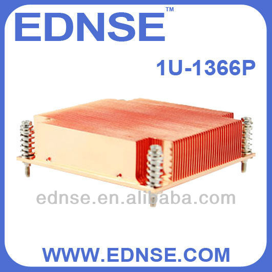 EDNSE CPU Cooler 1U-1366P server fan Radiator/heat sinks for cpu lga 1366