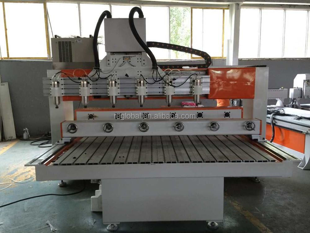 Brand new 10 head cnc wood rotary machine 5 axis cnc rotary with CE certificate