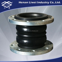 Double Sphere Rubber Expansion Joint with Galvanized Flange end