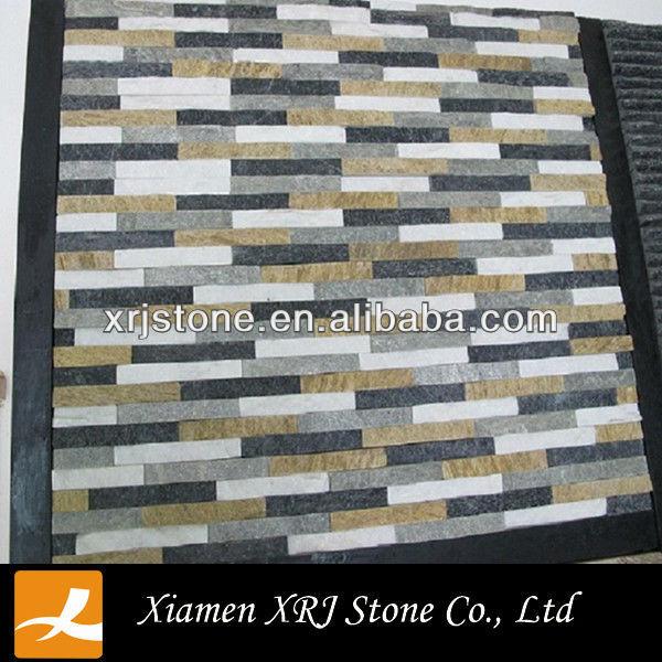 Natuurlijke leisteen paneel interieur decoratieve muur - Interior decorative stone wall panels ...