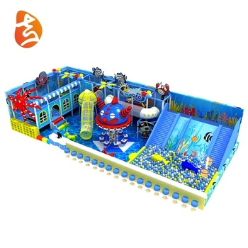 Custom made indoor climbing playground children sea theme park equipment