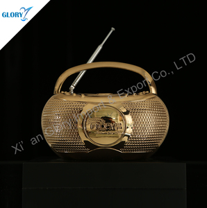High-end Metal Gold Plate Radio Trophies For Souvenir Television Station