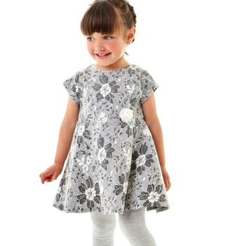 2018 newest design children girl summer dress lace fabric casual style famous brand kids clothes