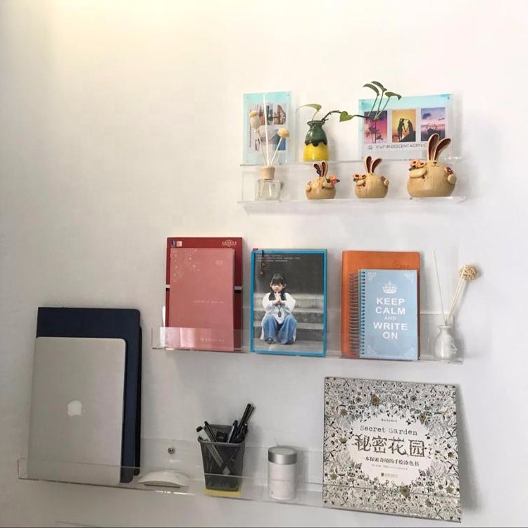 Acryl Display Houder Wall Mount Acryl Boek Display Stand Clear Acryl Boek Plank 2 pak