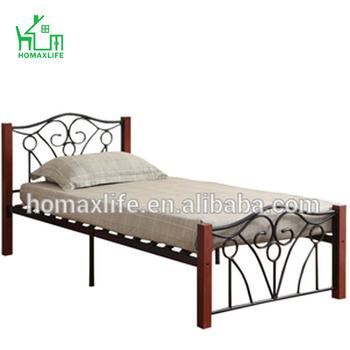 Kristall Kreuzblume Metall Bett Mit Holz Beine Buy Einziges Metall Bettgestell Mit Holz Beine Einziges Metall Bett Bett Product On Alibaba Com