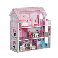 Wholesale Child Gift Diy Kids Modern Wooden Doll Houses Furniture Set