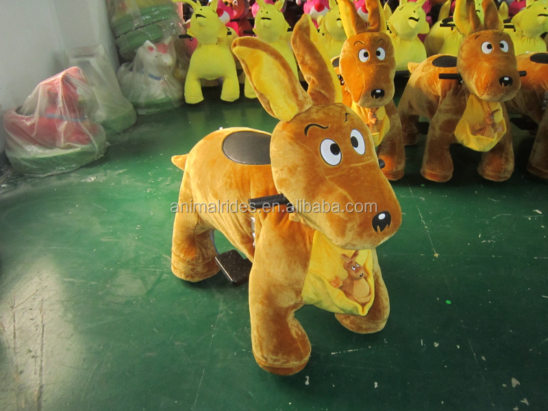 MZ59 battery operated mall animal rides with led necklace coin system