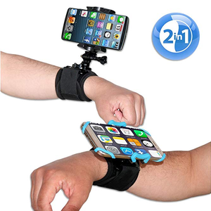 Cell Phone Armband Set 2-in-1 Sports Wristband Phone Holder Set for Running Cycling Gym Jogging Driving