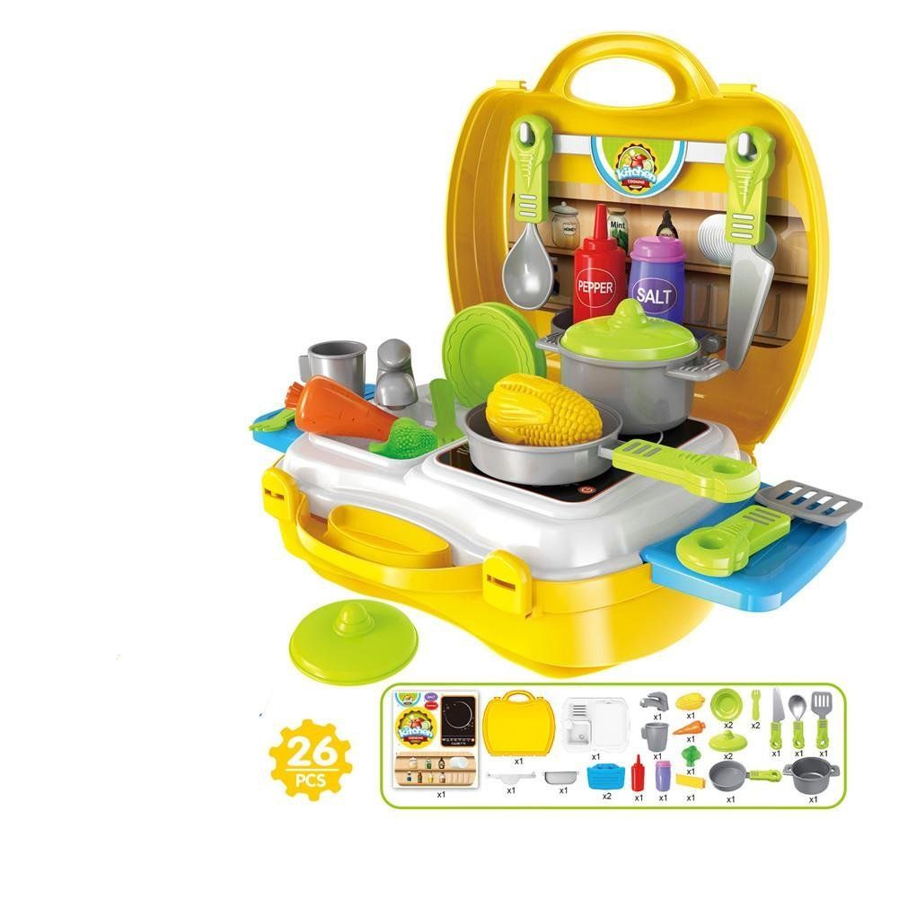 Small world toys livingaxier play carry set toy play house pretend play toys box