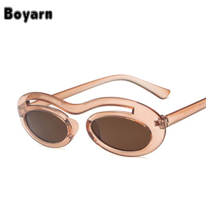 d57a5262e764 Fashion Women Round Sunglasses New Small Size Oval Sun Glasses Outdoor  Traveling Mirror Eyewear UV400 Black