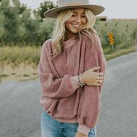 Top sales casual styles with popular design long sleeves sherpa pullover