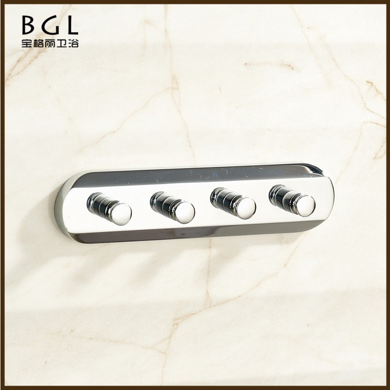 faster supplier bathroom accessory wall mounted clothes brass and chrome finishing coat hooks