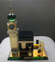Crystal Glass Makkah Mecca Clock Tower Allah Kaaba Quran Islamic Eid Gift MH-G0455