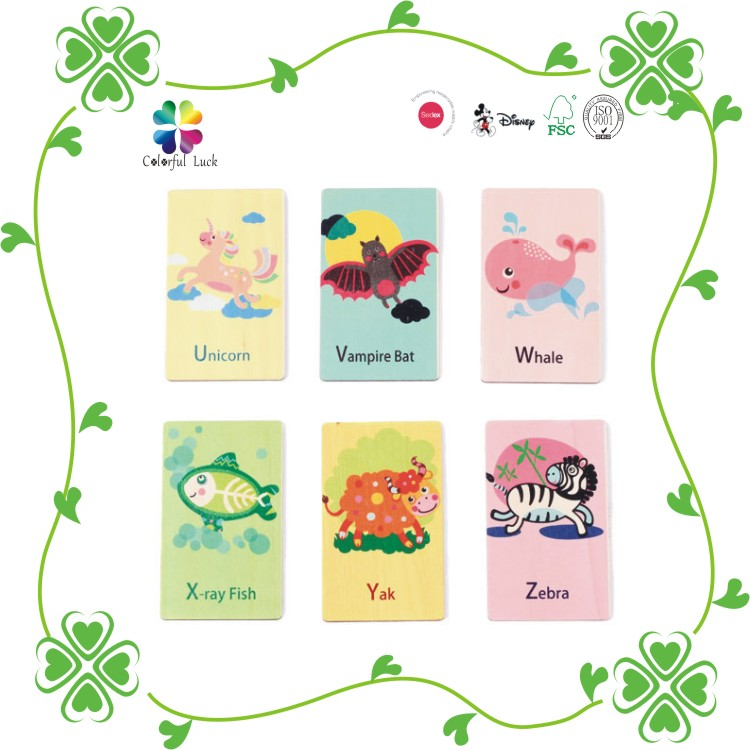 Costomized Hard Paper 350g Art Paper Flash Fancy Printing Glossy Kids Educational Playing Card