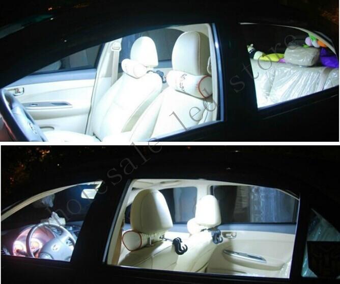 10 компл. купол W5W COB 48 чип 6 Вт smd салона T10 194 фестона адаптер из светодиодов автомобилей автомобиля панели авто стайлинг света белого